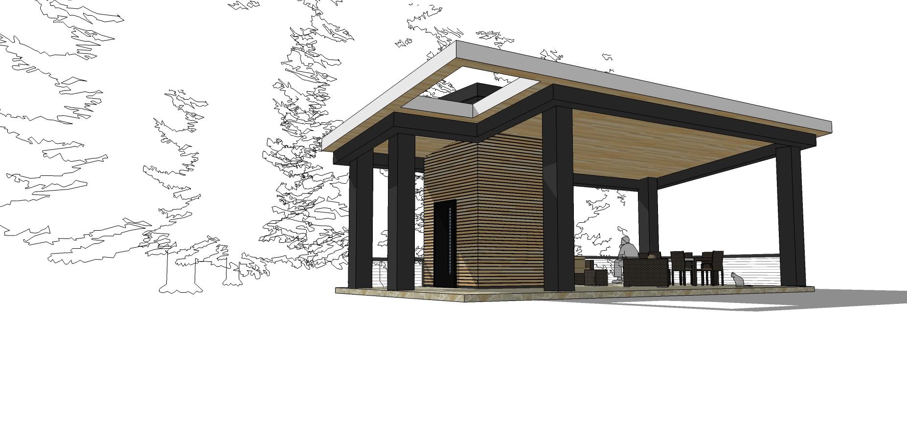 modern pool house design
