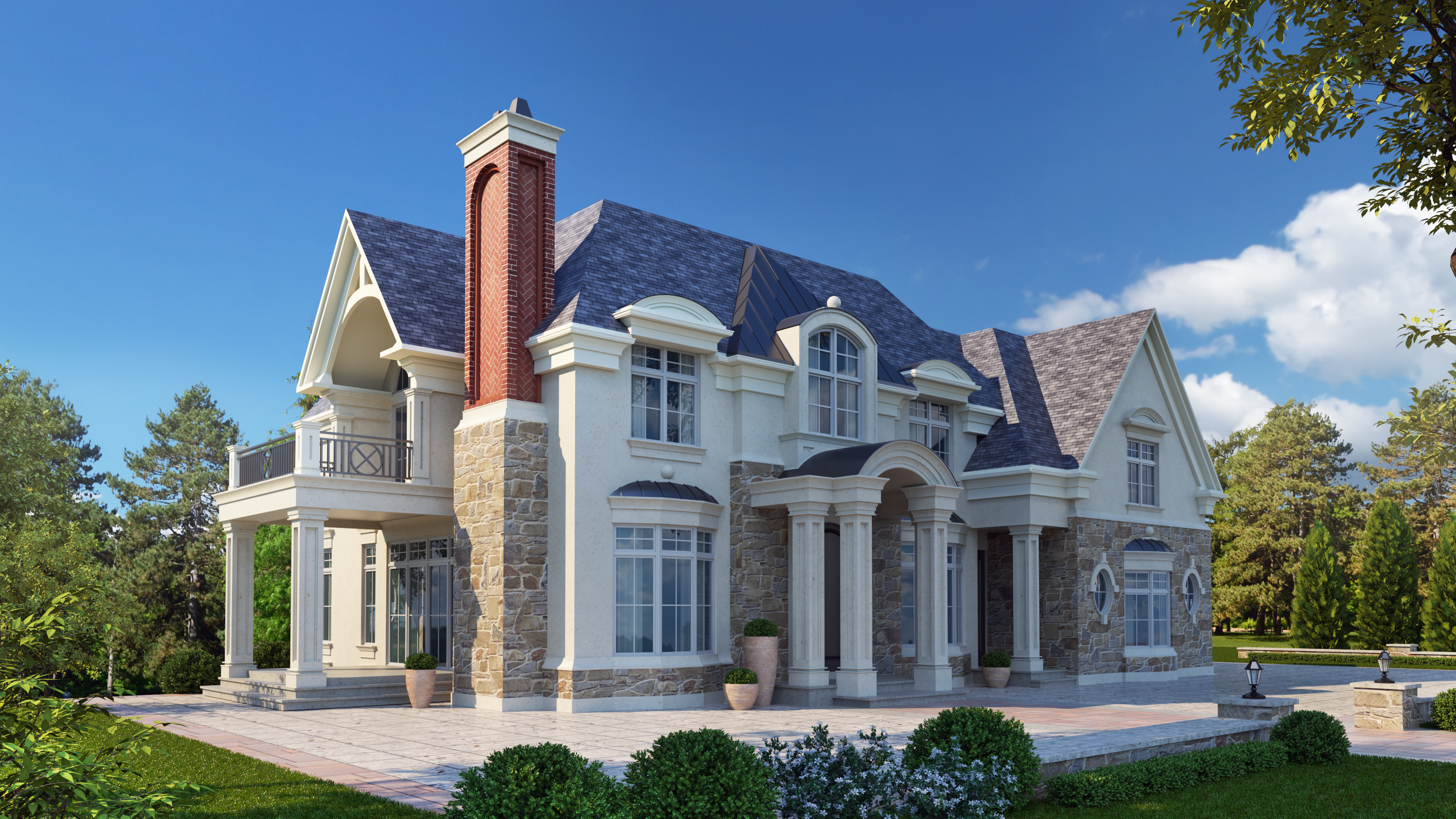 chateau style home design