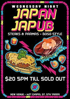 Japan JaPUB Wednsday NightSteak Parma's Meboune