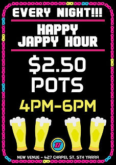 Bosozoku HQ Jappy Hour $2.50 Drinks Specials Melbourne