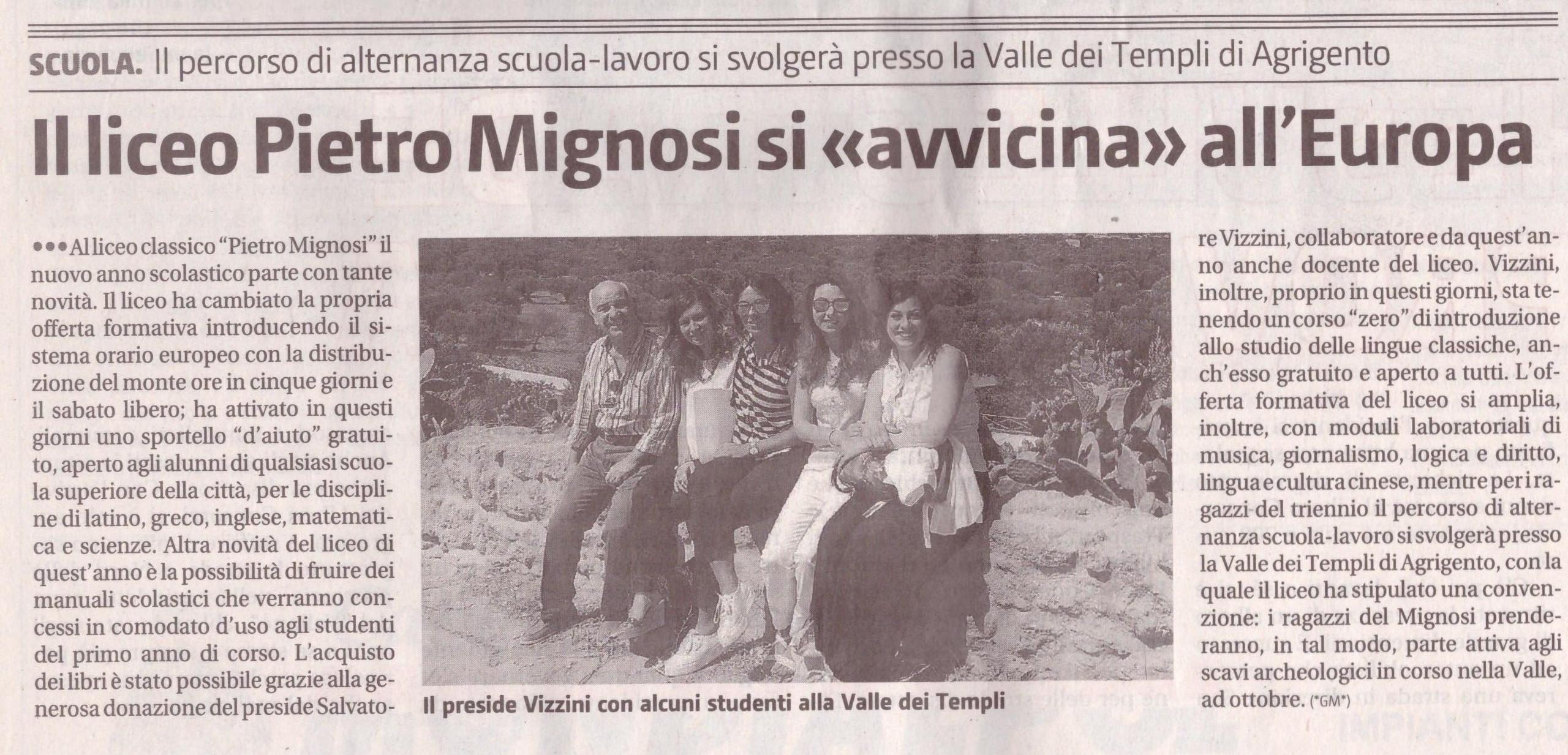 Giornale di Sicilia del 07/09/2016