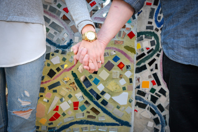 Holding Hands In Passyunk Square