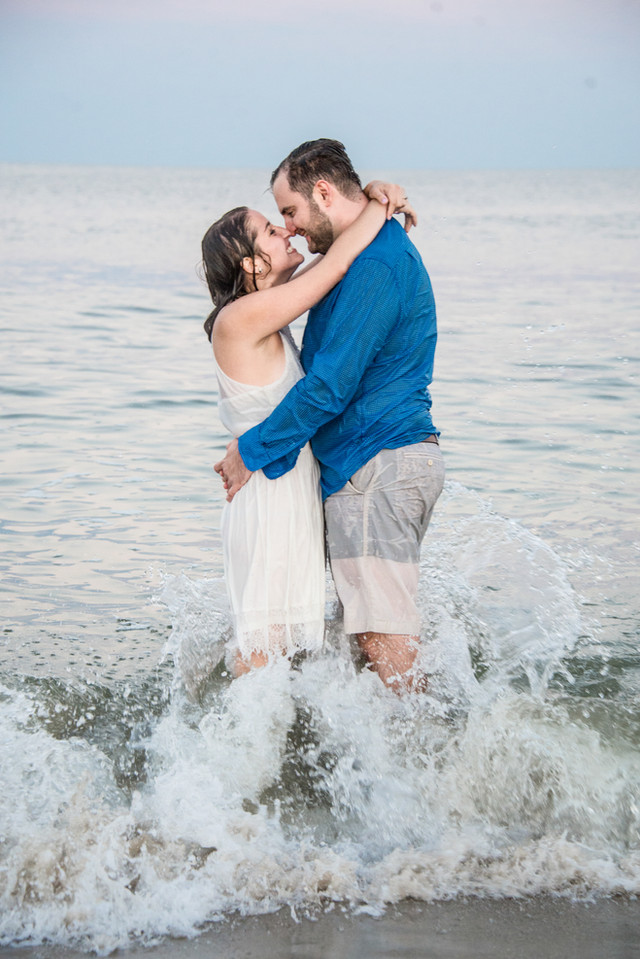 Beach engagment photo