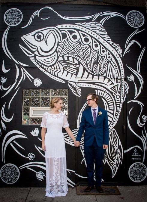 Fishtown Bride and Groom