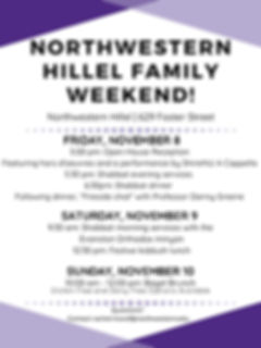 Northwestern Hillel Family Weekend Graph