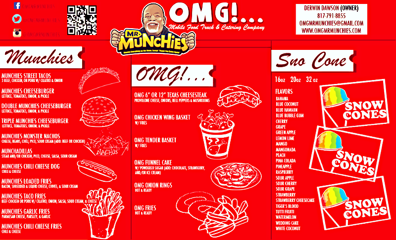 OMG...MR.MUNCHIES!!! MENU