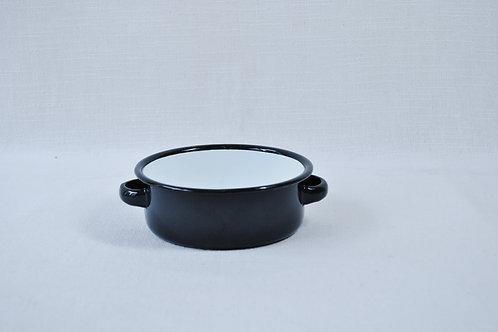 Cazuela negra interior blanco 14 cm