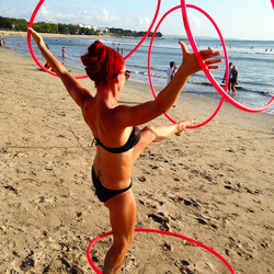 #hooping #beach
