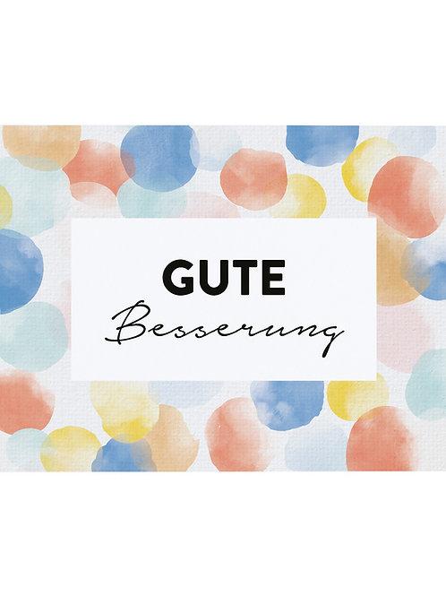"""Postkarte A6 """"GUTE BESSERUNG"""" von Fidea Design"""