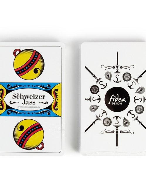 Jasskarten SCHWEIZER JASS I FRANZÖSISCHE KARTEN von Fidea Design