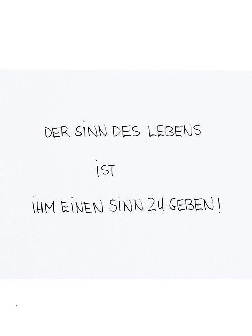 """Postkarte A6 von Habakuk """"DER SINN..."""" von Fidea Design"""