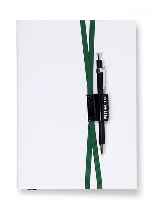 Buchzeichen mit Stifthalter FALT & HALT I FESTHALTEN von Fidea Design