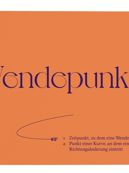 """Postkarte A6 """"WENDEPUNKT"""" von Fidea Design"""