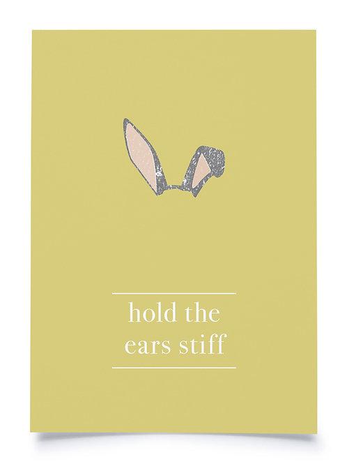 """Postkarte A6 """"HOLD THE EARS STIFF"""" von Fidea Design"""