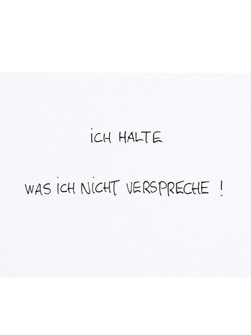 """Postkarte A6 von Habakuk """"ICH HALTE WAS ICH NICHT...""""von Fidea Design"""