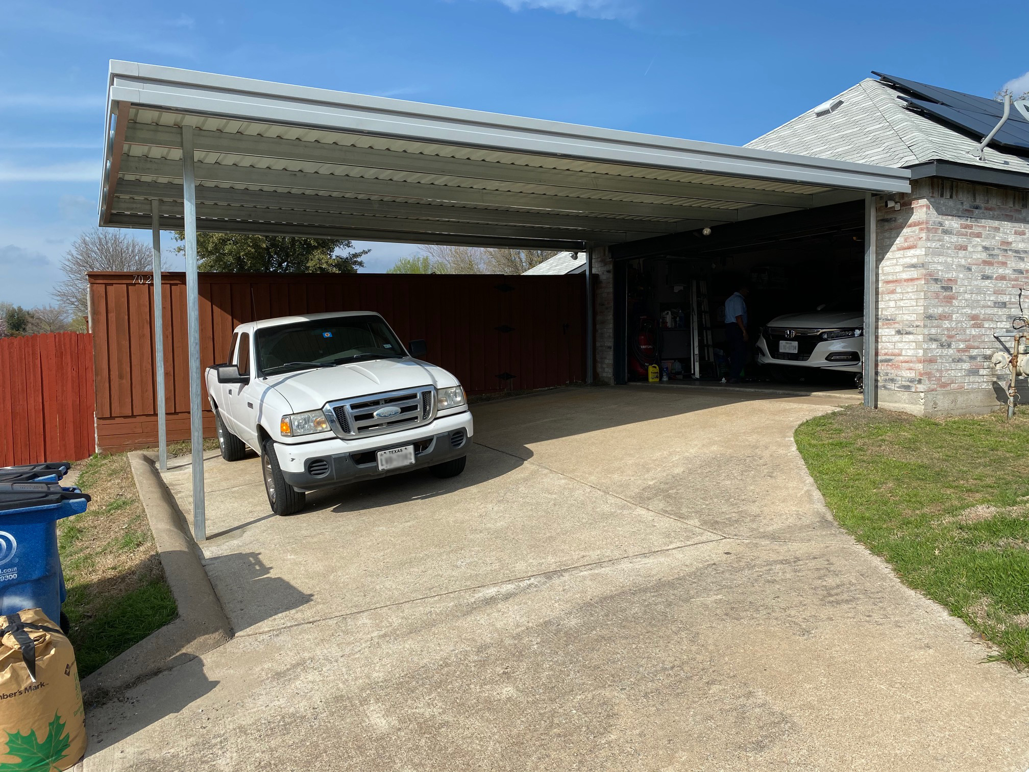 Extended Carport Side of Garage