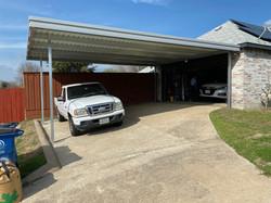 Extended Carport Side of Garage