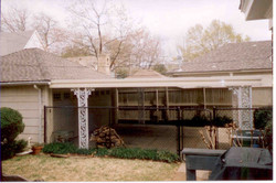 Scrolled Post Patio Cover