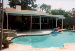 Extended Patio Cover with pool