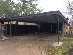 Carport in place of a garage