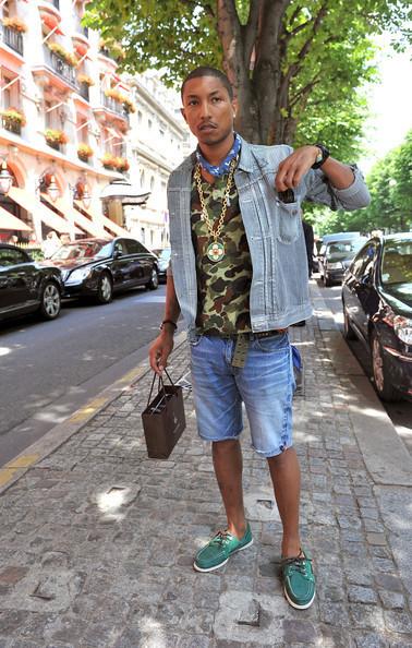 pharrell-denim-on-denim-camo-shirt-stree