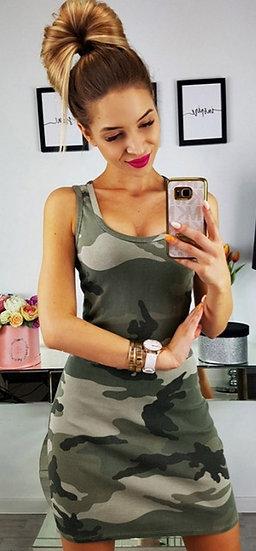 Camouflage Tank Dress
