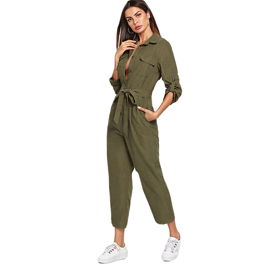 Classic Tapered Military Jumpsuit
