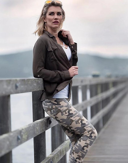 Camouflage Push Up Pants Sahara Camo