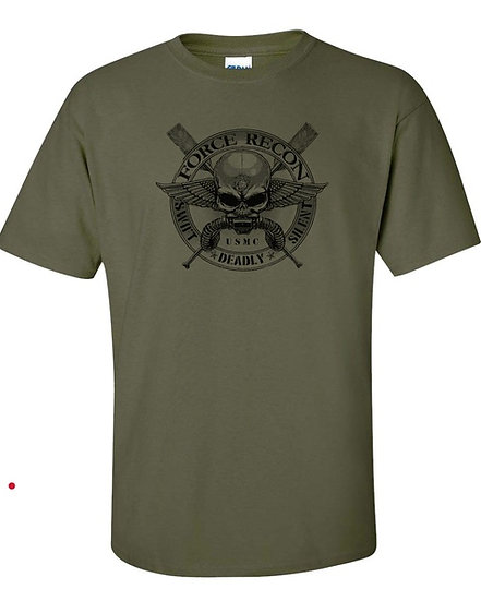Marine Corps Force Recon USMC Military Front & Back Tshirt