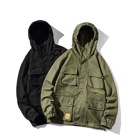 Free Your Mind Hooded Military Jacket