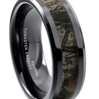 King Will Tungsten Camo Ring