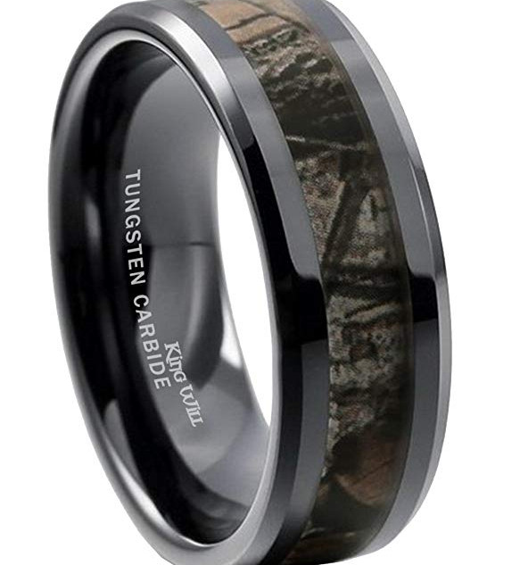 King Will Tungsten Camo Ring
