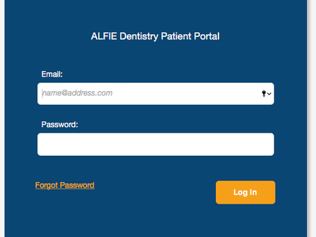 Navigating the ALFIE Dentistry Patient Portal