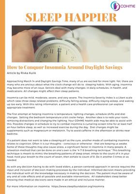 Insomnia Newsletter