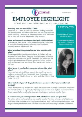 Employee Highlight February