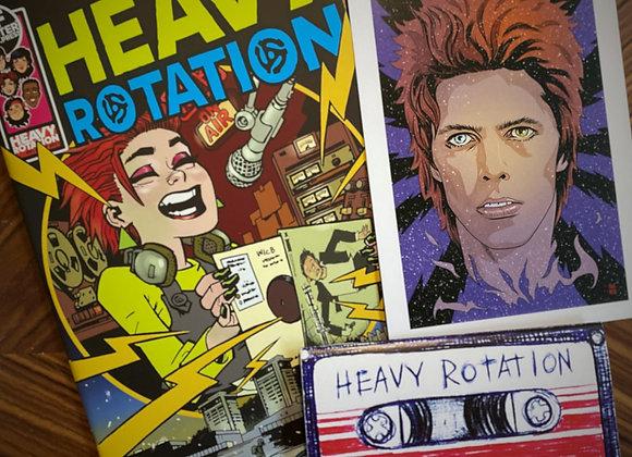 HEAVY ROTATION comic + art print and mini notebook