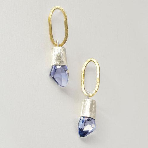 Kolczyki z lawendowymi kryształami