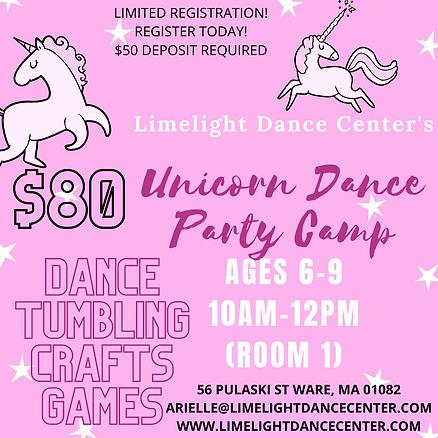 Pink and White Starry Unicorn Invitation