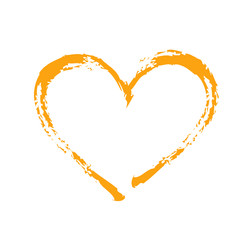 orange heart Square