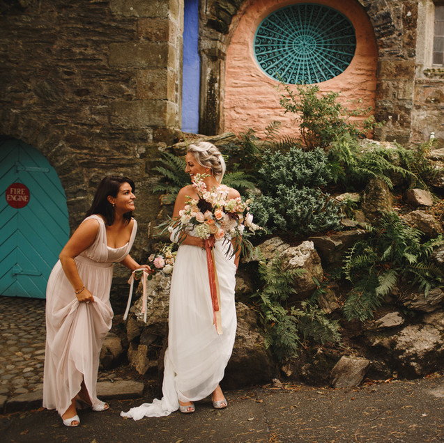 Lisa & David. Portmeirion