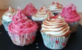 Raspberry & Coconut or Lemon Meringue Cupcakes
