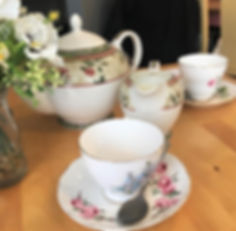 Vintage Teapot & Mismatched English Bone China