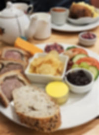 Leicestershire Ploughman's Platter  Melton Mowbray Pork Pie & Red Leicester