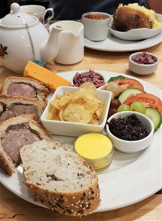 Leicestershire Ploughman's Platter  Melton Mowbray Pork Pie & Red Leicester