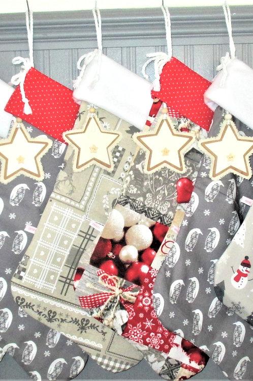 Lucky Dip. Two Handmade Christmas Stockings