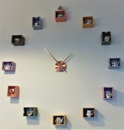 Our Unique China Tea Service Wall Clock