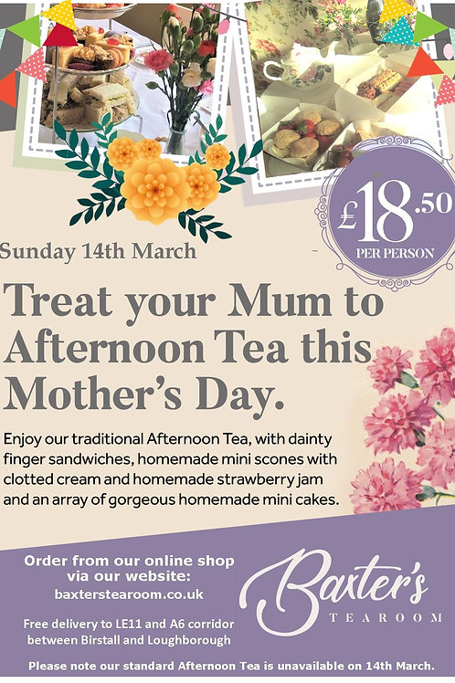 Mother's Day Take-away Afternoon Tea for One