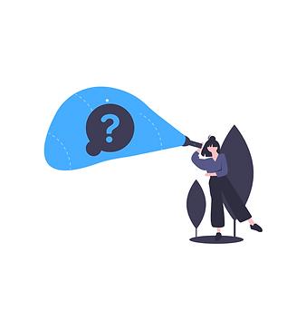 Personne qui cherche des réponses à ses questions