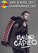 Claudio Capéo en concert à l Oppidum de Champagnole en 2017