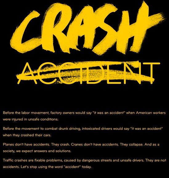 Charley Gee is a portland personal injury attorney and has taken the crash not accident pledge